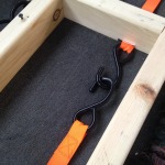 Installation of Ratcheting Tie Down for Dog Crate