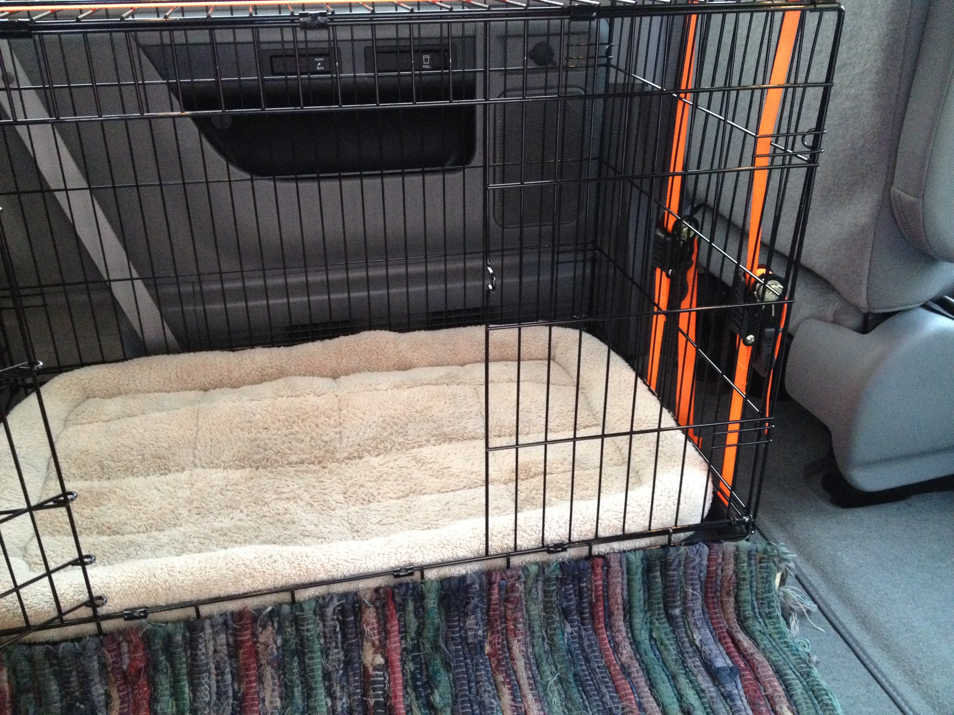 Dog Crate Installation In Van Don S Train Blog